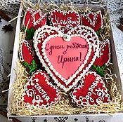 Подарки к праздникам ручной работы. Ярмарка Мастеров - ручная работа Набор пряников  на день рождения. Handmade.