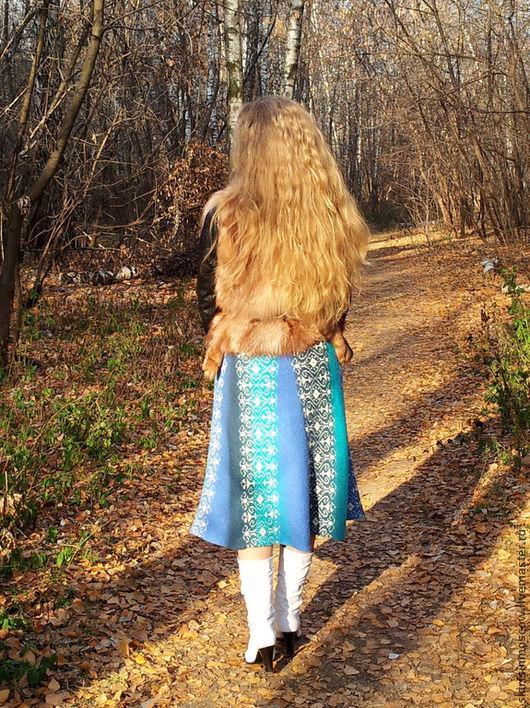 Юбки ручной работы. Ярмарка Мастеров - ручная работа. Купить Вязаная юбка Вспоминая море.. Handmade. Тёмно-бирюзовый, бирюзовый