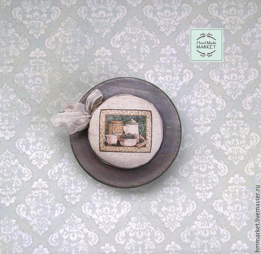 """Миниатюрные модели ручной работы. Ярмарка Мастеров - ручная работа. Купить Игольница """"Provence"""". Handmade. Серый, Франция, мятный"""