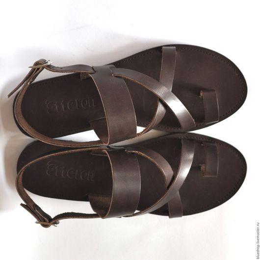 """Обувь ручной работы. Ярмарка Мастеров - ручная работа. Купить Кожаные сандалии """"классические"""" с пальчиком. Handmade. Сандалии, кожа"""