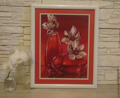 Картины цветов ручной работы. Ярмарка Мастеров - ручная работа Цветы в вазе. Handmade.