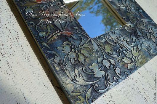 """Зеркала ручной работы. Ярмарка Мастеров - ручная работа. Купить Зеркало """"Северное сияние"""". Handmade. Зеркало, акриловые краски"""