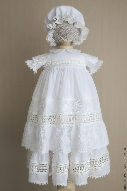 Крестильные принадлежности ручной работы. Ярмарка Мастеров - ручная работа. Купить Крестильное платье. Handmade. Белый, крестильное платье, крещение