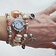"""Часы ручной работы. """"Морские ракушки"""" - часы-браслет. Светлана Игнатьева (Sig-art). Ярмарка Мастеров. Украшение с ракушками"""