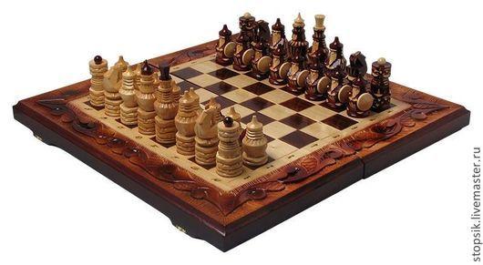 Настольные игры ручной работы. Ярмарка Мастеров - ручная работа. Купить Шахматы, нарды, шашки Волк (большие) 15804. Handmade.