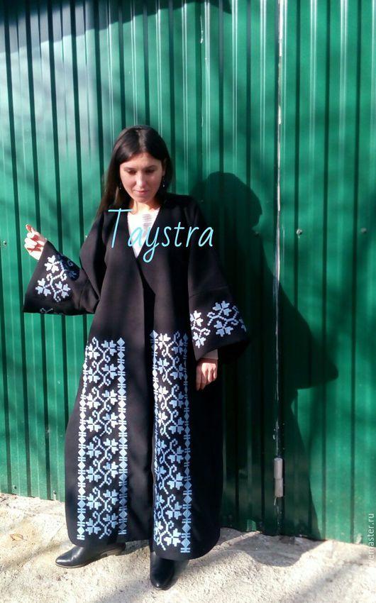 Верхняя одежда ручной работы. Ярмарка Мастеров - ручная работа. Купить Пальто женское с вышивкой. Handmade. Белый, вышивка на заказ