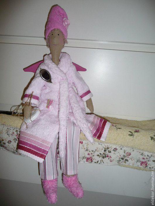 Куклы Тильды ручной работы. Ярмарка Мастеров - ручная работа. Купить Ангел Баннушка. Handmade. Розовый, уютный дом