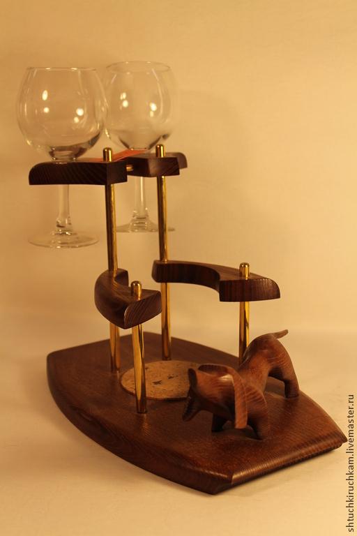 Подарочные наборы ручной работы. Ярмарка Мастеров - ручная работа. Купить Набор для напитков с таксой. Handmade. Коричневый, подарок женщине