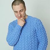 """Одежда ручной работы. Ярмарка Мастеров - ручная работа Вязанный мужской свитер """" THE BEST"""". Handmade."""
