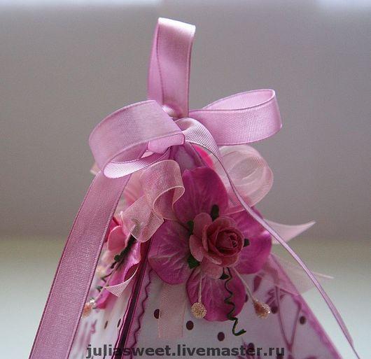 """Конверты для денег ручной работы. Ярмарка Мастеров - ручная работа. Купить Подарочная коробочка для денег """"Яркая пирамидка"""". Handmade. розовый"""