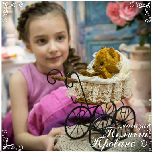 Куклы и игрушки ручной работы. Ярмарка Мастеров - ручная работа. Купить Коляска Кружевной винтаж, высота 24см, интерьерная, 5287. Handmade.