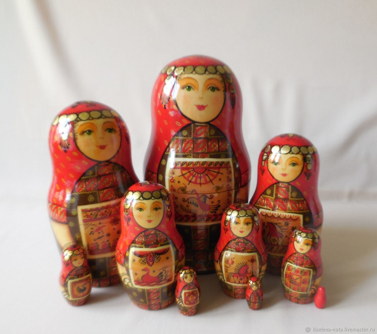 Matryoshka three -. Princess Olga. Mezen painting, Dolls1, Dubna,  Фото №1