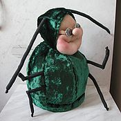 """Для дома и интерьера ручной работы. Ярмарка Мастеров - ручная работа Грелка на кружку """"Муха навозная"""". Handmade."""