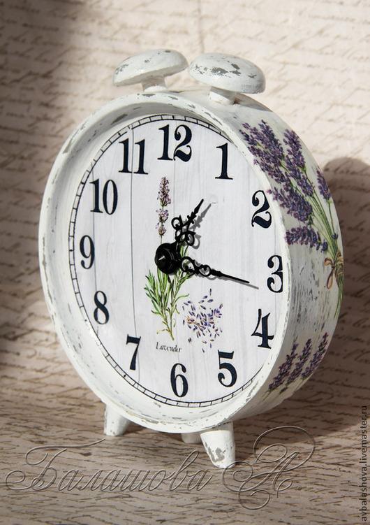 """Часы для дома ручной работы. Ярмарка Мастеров - ручная работа. Купить Часы """"Лавандовое утро"""". Handmade. Сиреневый, часы шебби"""