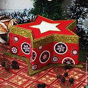 """Для дома и интерьера ручной работы. Ярмарка Мастеров - ручная работа Шкатулка """"Новогодняя звезда"""". Handmade."""