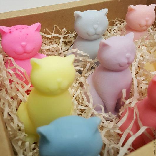 Мыло ручной работы. Ярмарка Мастеров - ручная работа. Купить Кошка (набор мыла подарочный). Handmade. Комбинированный, 8 марта