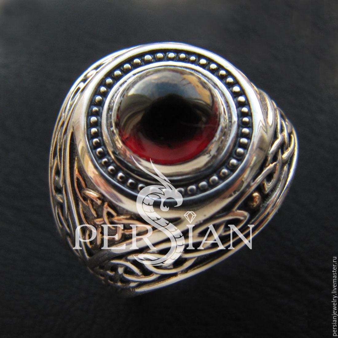 Ring silver with garnet, Ring, Sevastopol,  Фото №1
