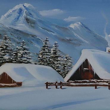 Картины и панно ручной работы. Ярмарка Мастеров - ручная работа Альпийская сказка. Handmade.