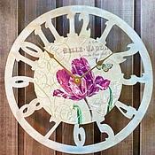 """Для дома и интерьера ручной работы. Ярмарка Мастеров - ручная работа Часы """"Нежный тюльпан"""". Handmade."""
