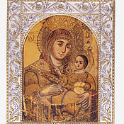 Русский стиль handmade. Livemaster - original item Bethlehem icon of the mother Of God (14h18cm). Handmade.