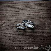 Свадебный салон handmade. Livemaster - original item Engagement rings Meteor silver. Handmade.