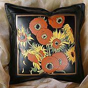 Для дома и интерьера handmade. Livemaster - original item VINCENT cushion leather. Handmade.