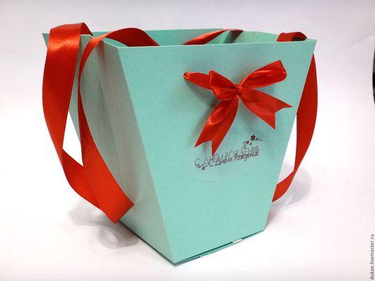 Подарочная упаковка ручной работы. Ярмарка Мастеров - ручная работа. Купить Пакет для цветов. Handmade. Разноцветный, Дизайнерский картон