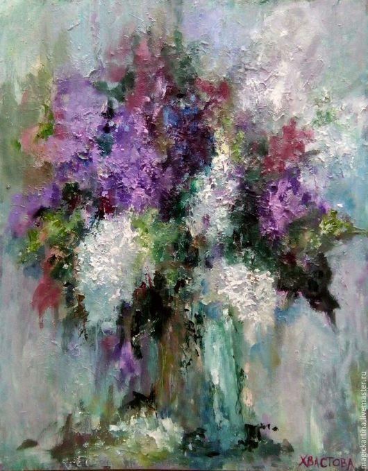 `Глубина мудрости` - картина маслом, цветы