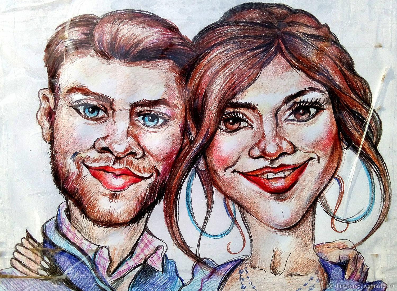Нарисовать шарж по фотографии в москве недорого