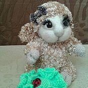 Куклы и игрушки ручной работы. Ярмарка Мастеров - ручная работа овечка Ксюня вязаная игрушка. Handmade.