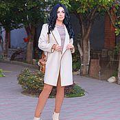 Одежда ручной работы. Ярмарка Мастеров - ручная работа Пальто из кашемира цвет крем. Handmade.