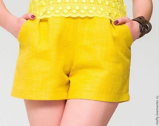 шорты шорты женские шорты шитые шорты на лето шорты летние летняя мода 2015 весенняя мода 2015 шорты на лето шорты желтые шорты белые шорты на заказ шорты хлопковые шорты в офис шорты с завышенной тал