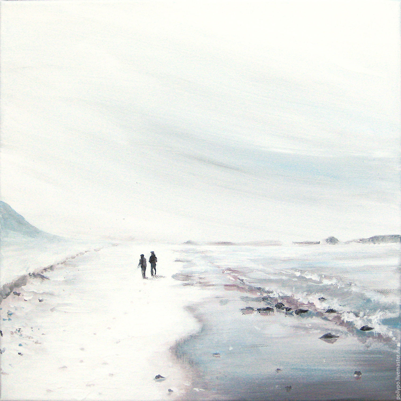 "Картина ""Двое"" ( живопись, минимализм, светлая картина ), Картины, Анапа,  Фото №1"