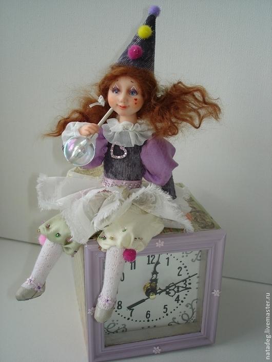 Коллекционные куклы ручной работы. Ярмарка Мастеров - ручная работа. Купить Клоунесса. Авторская кукла-часы.. Handmade. Коллекционная кукла