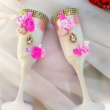 Свадебный салон ручной работы. Ярмарка Мастеров - ручная работа Бокалы Кристалльная роза. Handmade.