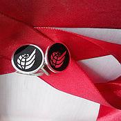 Подарки к праздникам ручной работы. Ярмарка Мастеров - ручная работа Корпоративные запонки с логотипом. Handmade.