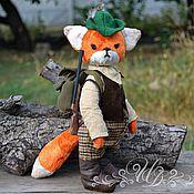 Куклы и игрушки ручной работы. Ярмарка Мастеров - ручная работа Лис Тедди охотник Мартин. Handmade.