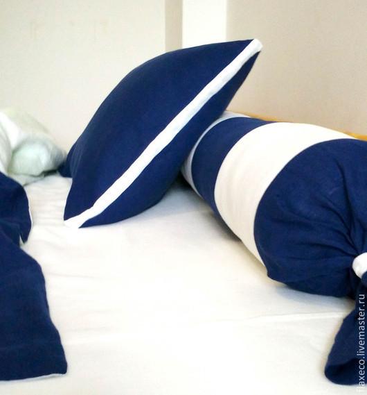 Текстиль, ковры ручной работы. Ярмарка Мастеров - ручная работа. Купить Комплект постельного белья «Моряк».. Handmade. Разноцветный