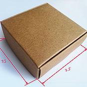 Материалы для творчества ручной работы. Ярмарка Мастеров - ручная работа коробочки из крафт-картона. Handmade.