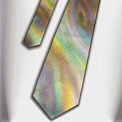 Аксессуары handmade. Livemaster - original item Silk tie Swirl, batik, original painting.. Handmade.