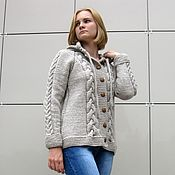 Одежда handmade. Livemaster - original item Cardigan womens knitted hooded. Handmade.