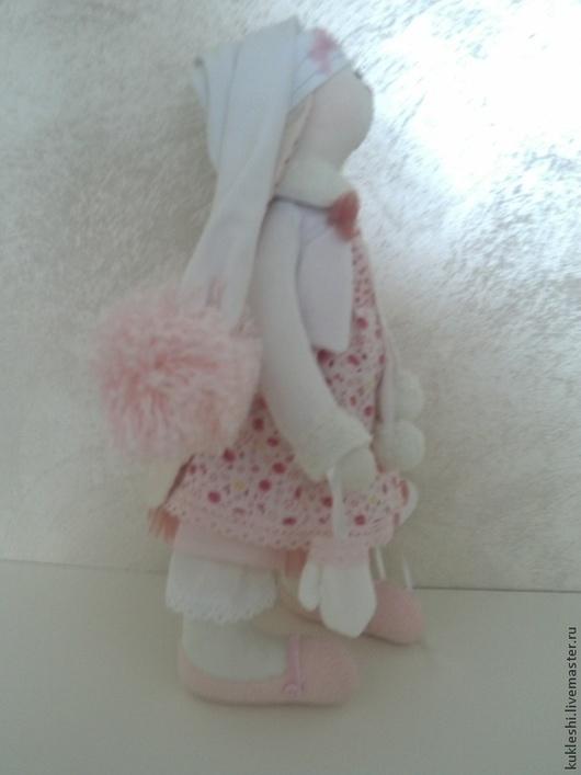 Куклы Тильды ручной работы. Ярмарка Мастеров - ручная работа. Купить Зайка Angelina. Handmade. Розовый, тильда заяц