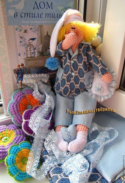 """Куклы Тильды ручной работы. Ярмарка Мастеров - ручная работа. Купить Ангел сонный тильда """"Сплюшка"""". Handmade. Комбинированный"""
