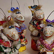 Подарки к праздникам ручной работы. Ярмарка Мастеров - ручная работа Козочка. Елочные игрушки из папье-маше. Handmade.