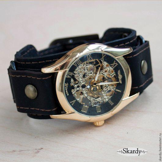 """Часы ручной работы. Ярмарка Мастеров - ручная работа. Купить Механические часы-скелетоны """"Respect"""". Handmade. Часы, скелетон"""