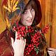 Верхняя одежда ручной работы. Пальто-пончо Леди Осень с рисунком из шерсти. Рыкова Наталия (Nataly Rykova). Ярмарка Мастеров.