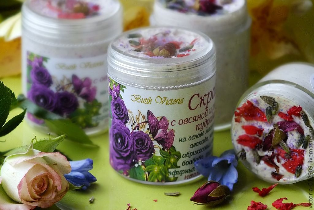 Scrub for face with oat and rice powders, Face Scrub, Moscow,  Фото №1