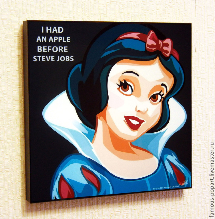 Picture poster Snow white Pop Art, Fine art photographs, Moscow,  Фото №1