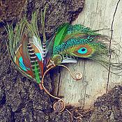 Украшения ручной работы. Ярмарка Мастеров - ручная работа Кафф с перьями. Handmade.