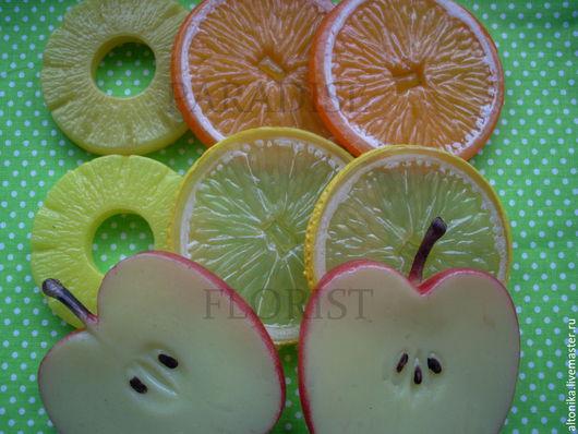 Материалы для флористики ручной работы. Ярмарка Мастеров - ручная работа. Купить Дольки фруктов( нарезка). Handmade. Оранжевый, ананас